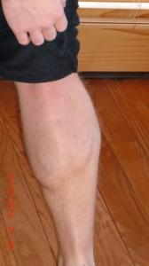 My brother's amazing calves